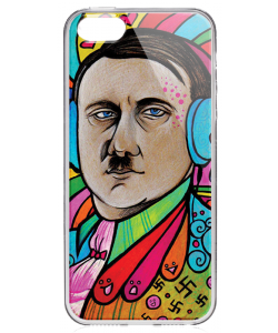 Hitler Meets Colors - iPhone 5/5S/SE Carcasa Transparenta Silicon