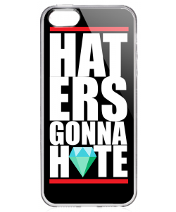 Haters Gonna Hate 2 - iPhone 5/5S/SE Carcasa Transparenta Silicon
