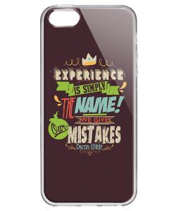 Experience - iPhone 5/5S/SE Carcasa Transparenta Silicon