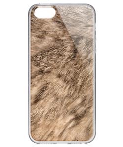 Rabbit Fur - iPhone 5/5S/SE Carcasa Transparenta Silicon