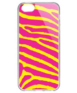 Model Zebra - iPhone 5/5S/SE Carcasa Transparenta Silicon