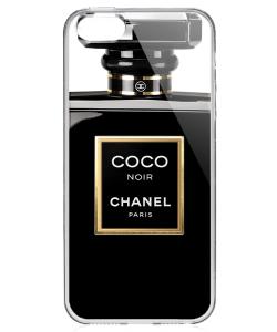 Coco Noir Perfume - iPhone 5/5S/SE Carcasa Transparenta Silicon