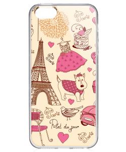 France - iPhone 5/5S Carcasa Transparenta Plastic
