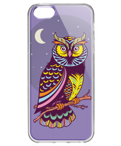 Purple Nights - iPhone 5/5S/SE Carcasa Transparenta Silicon