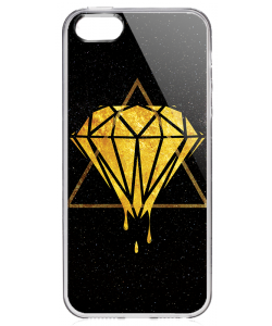 Diamond - iPhone 5/5S Carcasa Transparenta Plastic