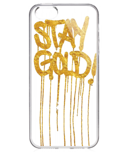 Stay Gold - iPhone 5/5S/SE Carcasa Transparenta Silicon