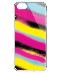 Graffiti Paint - iPhone 5/5S/SE Carcasa Transparenta Silicon