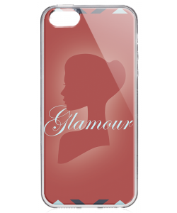 Glamour - iPhone 5/5S/SE Carcasa Transparenta Silicon