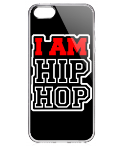 I am Hip Hop - iPhone 5/5S/SE Carcasa Transparenta Silicon