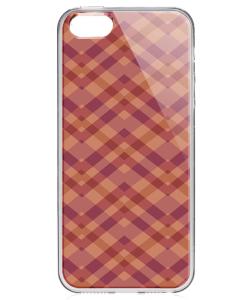 Marsala Zig Zag - iPhone 5/5S/SE Carcasa Transparenta Silicon