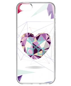 Love Keys - iPhone 5/5S/SE Carcasa Transparenta Silicon