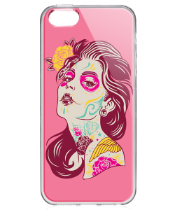 Fabulous Tattoos - iPhone 5/5S/SE Carcasa Transparenta Silicon