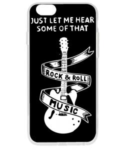 Rock & Roll - iPhone 6 Carcasa Transparenta Silicon