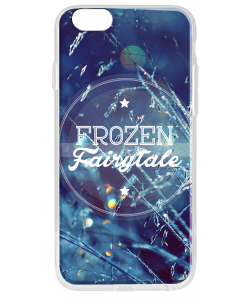 Frozen Fairytale - iPhone 6 Carcasa Transparenta Silicon