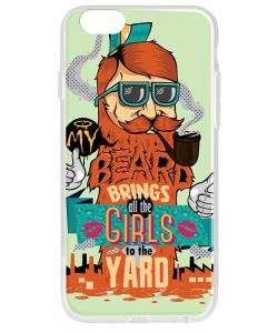 My Beard - iPhone 6 Carcasa Transparenta Silicon