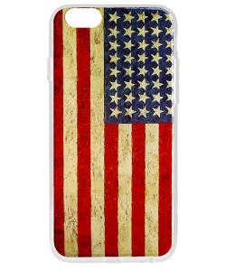 American Flag - iPhone 6 Carcasa Transparenta Silicon