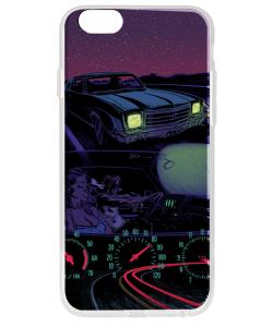Night Ride - iPhone 6 Carcasa Transparenta Silicon