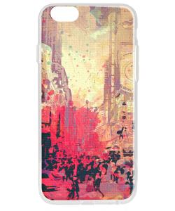 New York Time Square - iPhone 6 Carcasa Transparenta Silicon