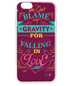 Falling in Love - iPhone 6 Plus Carcasa Transparenta Silicon