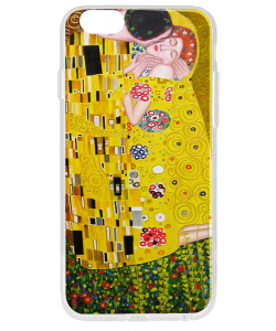 Gustav Klimt - The Kiss - iPhone 6 Plus Carcasa Transparenta Silicon