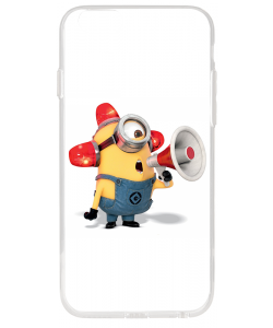 Fire Minion - iPhone 6 Plus Carcasa Transparenta Silicon
