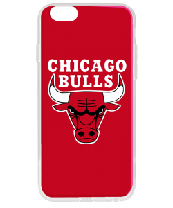 Chicago Bulls - iPhone 6 Plus Carcasa Transparenta Silicon