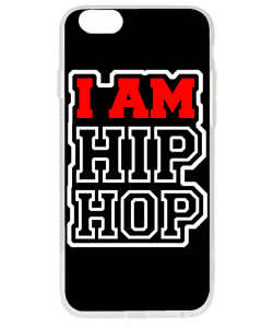I am Hip Hop - iPhone 6 Plus Carcasa Transparenta Silicon