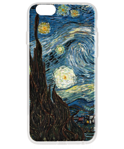 Van Gogh - Starry Night - iPhone 6 Plus Carcasa Transparenta Silicon