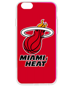 Miami Heat - iPhone 6 Plus Carcasa Transparenta Silicon