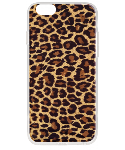 Leopard Print - iPhone 6 Plus Carcasa Transparenta Silicon