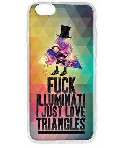 Love Triangles - iPhone 6 Plus Carcasa Transparenta Silicon