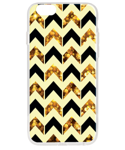 Black & Gold - iPhone 6 Plus Carcasa Plastic Premium