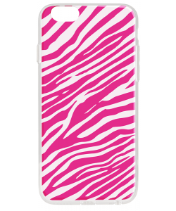 Pink Zebra - iPhone 6 Plus Carcasa Transparenta Silicon