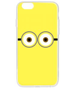 Minion Eyes - iPhone 6 Plus Carcasa Transparenta Silicon