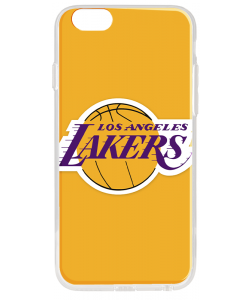 Los Angeles Lakers - iPhone 6 Plus Carcasa Transparenta Silicon