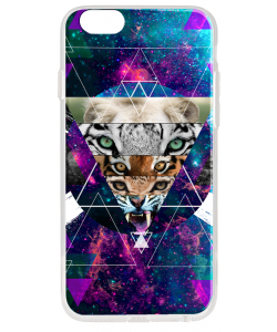 Tiger Swag - iPhone 6 Plus Carcasa Transparenta Silicon