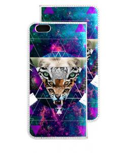 Tiger Swag - iPhone 6 Husa Book Alba Piele Eco