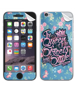 Queen of the Streets - Floral Blue - iPhone 6 Plus Skin