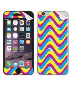 CMYK Waves - iPhone 6 Plus Skin