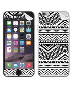 Tribal Black & White - iPhone 6 Plus Skin