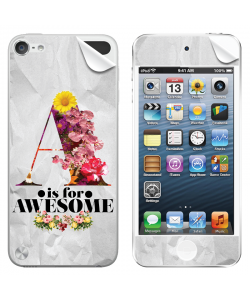 A is for Awesome - Apple iPod Touch 5th Gen Skin