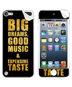 Good Music Black - Apple iPod Touch 5th Gen Skin