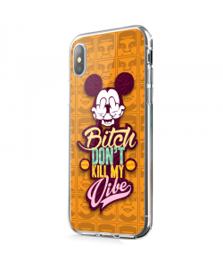 Bitch Don't Kill My Vibe - Obey - iPhone X Carcasa Transparenta Silicon