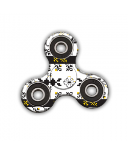 Fidget Spinner - Black & Yellow