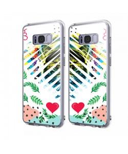 Hipster Meow Heart - Samsung Galaxy S8 Carcasa Transparenta Silicon