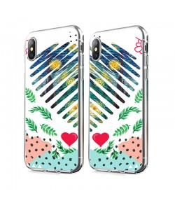 Van Gogh - Starry Night Heart - iPhone X Carcasa Transparenta Silicon