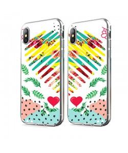 Tread Softly Heart - iPhone X Carcasa Transparenta Silicon