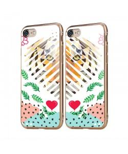 Tiger Heart - iPhone 6/6S Carcasa Transparenta Silicon