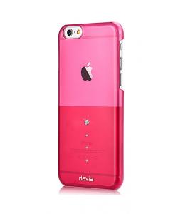 Crystal Unique Rose Pink - Devia iPhone 6/6S Carcasa TPU (Cristale Swarovski®)