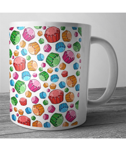 Cana personalizata - Rainbow Cupcakes